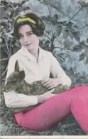 AUDREYHEPBURN With Fawn, Actress, Actrice,  Vintage Old Photo Postcard - Acteurs