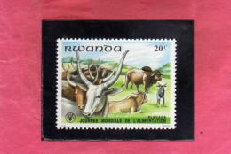 RWANDA 1982 WORLD FOOD DAY JOURNEE DE L'ALIMENTATION GIORNATA MONDIALE PER L'ALIMENTAZIONE MNH - Rwanda