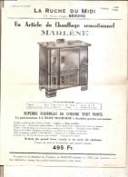 Prospectus La Ruche Du Midi-beziers-fourneau De Cuisine Marlene - Publicités