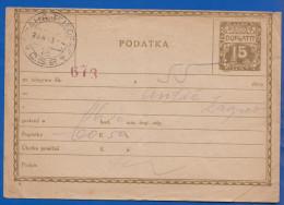 Tschechien; Doplatit Taxe; Stempel Praha Telegraf - Postal Stationery