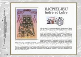 """Feuillet CEF N°té En SOIE De 2008 N° 1958s """" RICHELIEU / INDRE ET LOIRE """" N° YT 4258 . Parfait état + Prix Deg - Postdokumente"""