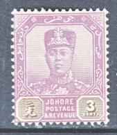 JOHORE  105    *    Wmk  4 - Johore