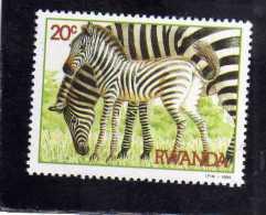 RWANDA 1984 FAUNA ANIMAL ZEBRAS ANIMALS ANIMALI ZEBRA ANIMALE MNH - Rwanda