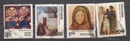 INDIA, 1978, FINE USED, Modern Indian Paintings, Set 4 V - India