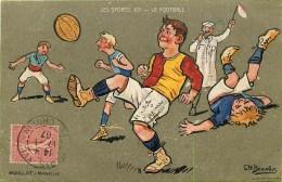 Football- CPA Illustrée Par Charles Beauvais   écrite En 1907 - Bel Etat (voir 2 Scans) - Calcio
