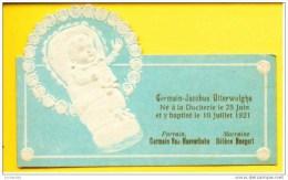 Faire-part De Naissance/baptème : Germain-Jacobus  Marchienne Docherie 1921 - Geburt & Taufe