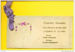Faire-part De Naissance/baptème : Paulette, Roux 1932 - Naissance & Baptême