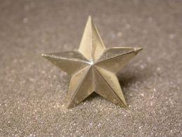 STELLA STAR - Metallo Cromato 2,5 Cm - Militari