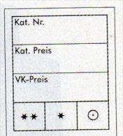 Preisetiketten 1000x Groß New 8€ Text 3-zeilig Kennzeichnung Von Karten In Alben / Marken In Steckkarten LINDNER #802023 - Matériel