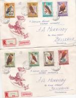 Hungary 1963 Birds Registered Covers To Australia - Hungary