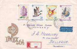 Hungary 1964 Registered Cover To Australia - Hungary