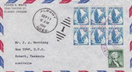 United States 1954 Airmail Cover To Australia - Stati Uniti