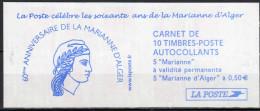 "Anniv. Marianne De Fernez - N° C1512 (5x TPV ""Luquet""+5x 0,50€  ""M.Alger"") - Date Marge De Gauche - Carnets"
