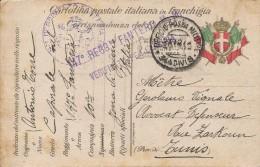 CPA Militaire Italienne De 1916 à Destination De La Tunisie - Documents
