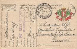 CPA Militaire Italienne De 1917 à Destination De La Tunisie - Documents