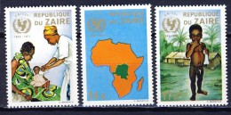 Cono Kinshasa - Zaire Cat.  COB-OBP  Nr 800-802     (xx) - Zaïre