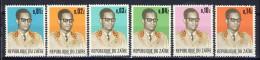 Cono Kinshasa - Zaire Cat.  COB-OBP  Nr 826-831    (xx) - Zaïre