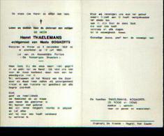 Souvenir Mortuaire THAELEMANS, Henri (1924-1982) Geboren En Overleden Te MEISE - Images Religieuses