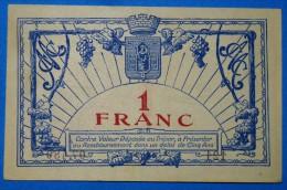 CHAMBRE De COMMERCE De MONPELLIER 1 Fr Série 121 Du 11 Octobre 1917  Banque Billet  Paper Money Port Gratuit - Chambre De Commerce