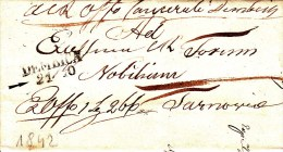 POLAND Prephilatelic 1842 DEMBICA To TARNOW Full Letter - Pologne