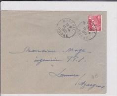 RHONE - 1951 - ENVELOPPE De RANCHAL Avec OBLITERATION De BUREAU DE DISTRIBUTION - Postmark Collection (Covers)