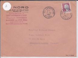 RHONE - 1962 - ENVELOPPE De STE CATHERINE Avec OBLITERATION De BUREAU DE DISTRIBUTION - Postmark Collection (Covers)