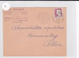 RHONE - 1963 - ENVELOPPE De CHAMBOST-LONGESSAIGNE Avec OBLITERATION De BUREAU DE DISTRIBUTION - Postmark Collection (Covers)