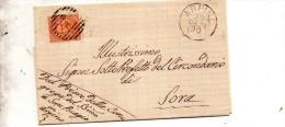 1890  LETTERA CON ANNULLO ARPINO FROSINONE - Marcofilía