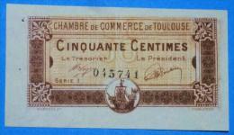 CHAMBRE De COMMERCE De TOULOUSE 50 Ct  Série 1 Du 19 Novembre 1919 Banque Billet  Paper Money Port Gratuit - Chambre De Commerce