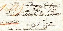 POLAND Prephilatelic 1877 IZDEBNIK To TARNOW Full Letter - Pologne