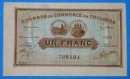 CHAMBRE De COMMERCE De TOULOUSE 1 Fr  Série 1 Du 19 Novembre 1919 Banque Billet  Paper Money Port Gratuit - Chambre De Commerce