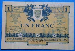 CHAMBRE De COMMERCE De TOURS 1Fr  Série 2 Du 8 Mai 1920 Banque Billet  Paper Money Port Gratuit - Chambre De Commerce