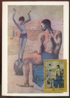 CARTE MAXIMUM CM Card USSR RUSSIA Art Painting Spain PICASSO Painter Sculptor Boy Ball - Cartes Maximum