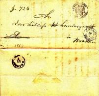 POLAND Prephilatelic 1835 JASLO To KRAKAU Full Letter - Pologne