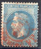 FRANCE Poste N° 29B Oblitéré Cachet Rouge - 1863-1870 Napoleone III Con Gli Allori