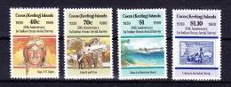 COCOS ( KEELING ) ISLANDS  ,  1989 ,   1 St Aerial Survey  50  Years , Y&T  # 199/02, Cv  10.00 E. ** , M N H , V V F - Isole Cocos (Keeling)