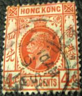 Hong Kong 1912 King George V 4c - Used - Oblitérés