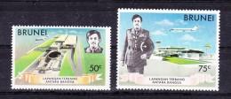 BRUNEI    ,  1974 , New Airport , Y&T   #  190/1,   Cv  4.50  E. ** , M N H , V V F - Brunei (1984-...)