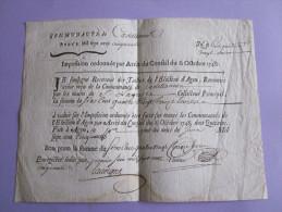 RECU DE TAILLE DE 1750   RARE VILLE AGEN/ CASTELLONNE? - Assignats & Mandats Territoriaux