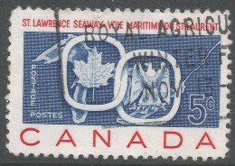 Canada. 1959 Opening Of St Lawrence Seaway. 5c Used - 1952-.... Reign Of Elizabeth II