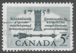 Canada. 1958 Bicentenary Of First Elected Assembly. 5c Used - 1952-.... Reign Of Elizabeth II