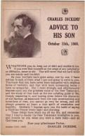ECRIVAINS / CONTES / Chales DICKENS / Conseil à Son Fils 15 Octobre 1868 - Contes, Fables & Légendes
