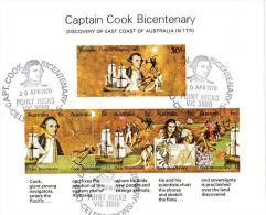 Australia 1970 Cook - Set Of 12 Commemorative Postmarks Miniature Sheets CTO - 1966-79 Elizabeth II