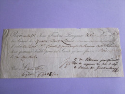RECU 30 MAI 1806  RARE VILLE PARIS - Assignats