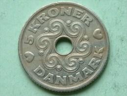 1990 LG JP - 5 Kroner / KM 869.1 ( Uncleaned Coin / For Grade, Please See Photo ) !! - Denmark