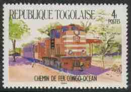 Togo 1984 Mi 1810 ** Diesel Train, Congo-Ocean Railway / Lokomotive Kongo-Ozean-Bahn / Chemin De Fer - Treinen