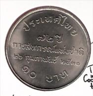 THAILAND 10 BAHT BE2531 1988 UNC 72ND ANN. THAI COOPERATIVES - Thaïlande