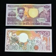 Suriname 100 Gulden 1986  P-133a  UNC BANKNOTE < National Hero ;Toucan ; Speech> - Surinam
