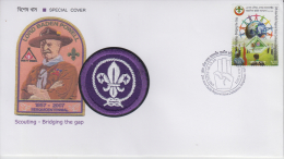 Bangladesh  2012  Clth Badge Studded Baden Powell Scouting Cover # 81208 - Scouting
