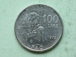 1979 - 100 Lire / KM 106 ( Uncleaned Coin / For Grade, Please See Photo ) !! - 1946-… : République